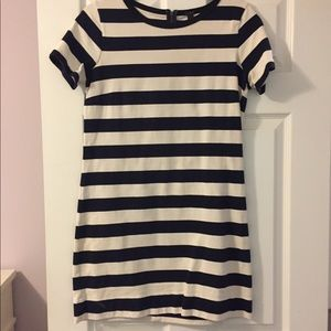 J.Crew Navy Stripped Shift Dress
